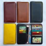 Original Genuine Leather Wallet Case Universal