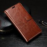 Casing Dompet Kulit for Sony Xperia XA