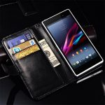 Casing Dompet Kulit For Sony Xperia Z1